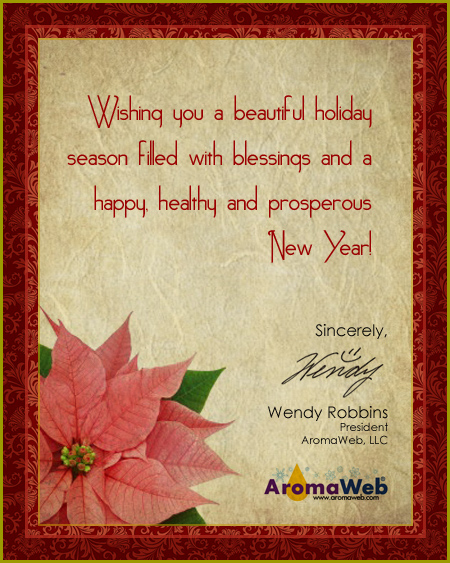 Season's Greetings from AromaWeb