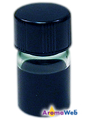 Bottle Depicting the Typical Color of Blue Tansy Essential Oil