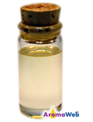 Bottle Depicting the Typical Color of Cananga Essential Oil