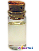 Bottle Depicting the Typical Color of Spearmint Essential Oil