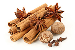 Cinnamon, Anise, Nutmeg and Clove