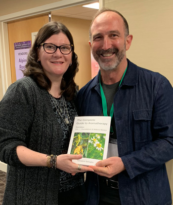 Wendy Robbins of AromaWeb with Salvatore Battaglia, Author of The Complete Guide to Aromatherapy