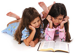 Children Reading Storybook