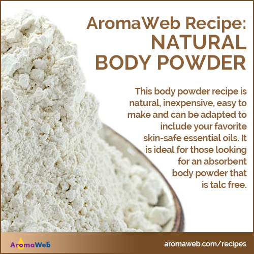 AromaWeb Natural Body Powder Recipe
