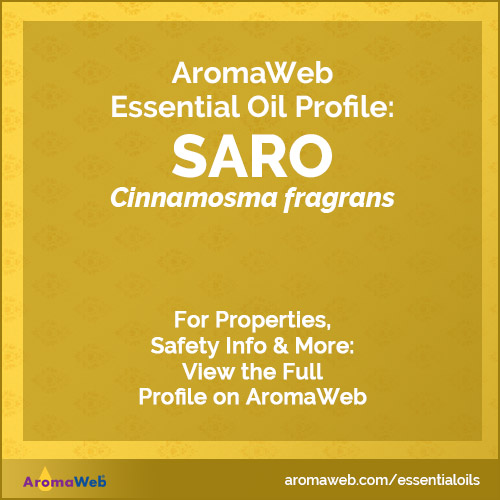 Saro Essential Oil Profile